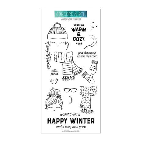 Concord & 9th Clear Stamps 4X8 - Winter Wear
