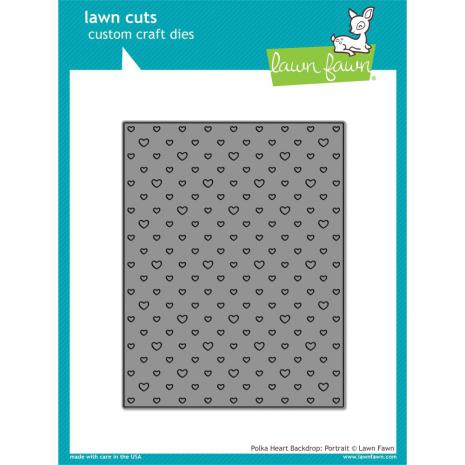 Lawn Fawn Custom Craft Die - Polka Heart Backdrop: Portrait