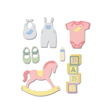 Sizzix Thinlits Die Set 12PK - New Baby #2  19-01