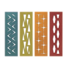 Tim Holtz Sizzix Thinlits Die Set 4PK - Retro Repeat 19-01