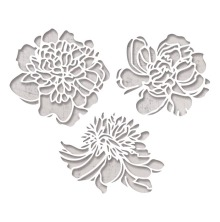 Tim Holtz Sizzix Thinlits Die Set 3PK - Cutout Blossoms 19-01