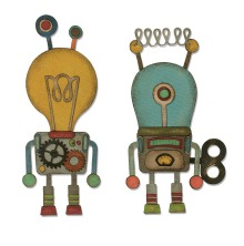 Tim Holtz Sizzix Thinlits Die Set 14PK - Robotic 19-01