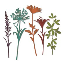 Tim Holtz Sizzix Thinlits Die Set 5PK - Wildflower Stems #2 19-01
