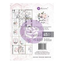 Prima Marketing Journaling Cards Pad 3X4 45/Pkg - Poetic Rose