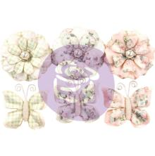 Prima Marketing Poetic Rose Paper Flowers 6/Pkg - Dainty Dreams W/ButterfliesUTG