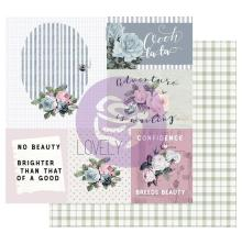 Prima Marketing Poetic Rose Double-Sided Cardstock 12X12 - Mixed FeelingsUTGÅEND
