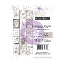 Prima Marketing Journaling Cards Pad 3X4 45/Pkg - Pretty Pale UTGÅENDE