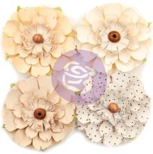 Prima Marketing Pretty Pale Paper Flowers 4/Pkg - Neutral Beauty UTGÅENDE