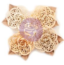 Prima Marketing Pretty Pale Paper Flowers 4/Pkg - Organic Elegance UTGÅENDE