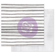 Prima Marketing Pretty Pale Double-Sided Cardstock 12X12 - Blurred Lines UTGÅEND
