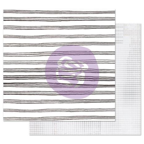 Prima Marketing Pretty Pale Double-Sided Cardstock 12X12 - Blurred Lines