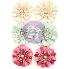 Prima Midnight Garden Pearlescent Paper Flowers 6/Pkg - Wonderful Midnight