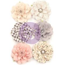 Prima Spring Farmhouse Paper Flowers 6/Pkg - Blessings UTGÅENDE