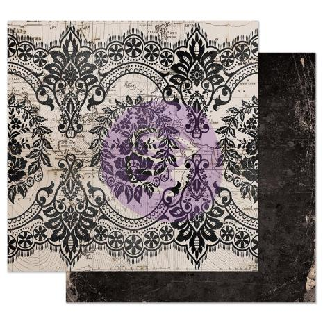 Prima Midnight Garden Double-Sided Cardstock 12X12 - Old Map
