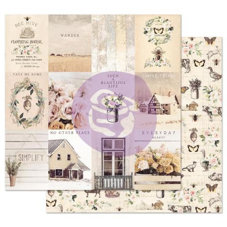 Prima Spring Farmhouse Double-Sided Cardstock 12X12 - Simple Things