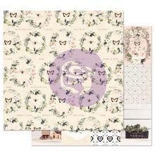 Prima Spring Farmhouse Double-Sided Cardstock 12X12 - Full Heart UTGÅENDE