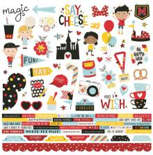 Simple Stories Say Cheese 4 Cardstock Stickers 12X12 - Combo UTGÅENDE