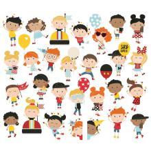 Simple Stories Say Cheese 4 Bits & Pieces Die-Cuts 28/Pkg - Happy Kids UTGÅENDE