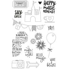 Simple Stories Say Cheese 4 Clear Stamps 4X6 - Magic