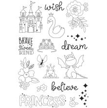 Simple Stories Little Princess Clear Stamps 4X6 - Make a Wish