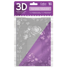 Crafters Companion 3D Embossing Folder 5x7 - Rose Bouquet