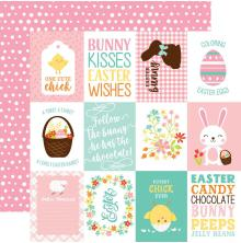 Echo Park Easter Wishes Cardstock 12X12 - 3X4 Journaling Cards UTGÅENDE