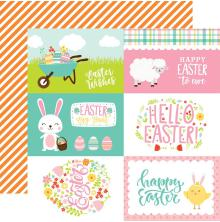 Echo Park Easter Wishes Cardstock 12X12 - 4X6 Journaling Cards UTGÅENDE
