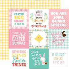 Echo Park Easter Wishes Cardstock 12X12 - 4X4 Journaling Cards UTGÅENDE