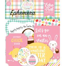 Echo Park Easter Wishes Cardstock Die-Cuts 33/Pkg - Ephemera UTGÅENDE