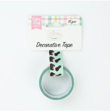 Echo Park Easter Wishes Decorative Tape 15ft - Chocoloate Bunnies