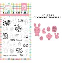 Echo Park Easter Wishes Clear Stamp & Dies - Easter Memories