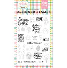 Echo Park Easter Wishes Clear Stamps 4X6 - Easter Memories