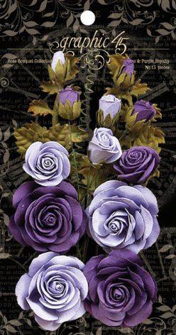 Graphic 45 Staples Rose Bouquet Collection 15/Pkg - French Lilac & Purple Royalt