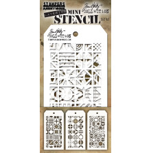 Tim Holtz Mini Layered Stencil Set 3/Pkg - Set 41
