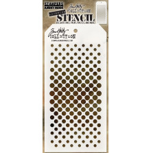 Tim Holtz Layered Stencil 4.125X8.5 - Gradient Dot