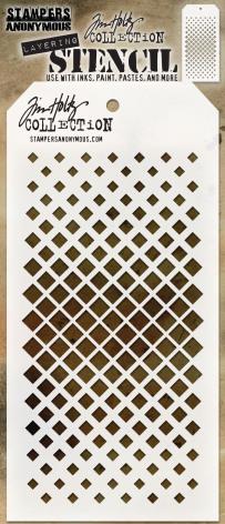 Tim Holtz Layered Stencil 4.125X8.5 - Gradient Square