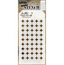 Tim Holtz Layered Stencil 4.125X8.5 - Shifter Burst