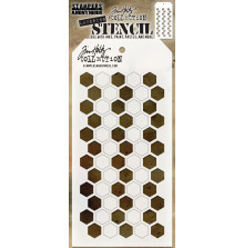 Tim Holtz Layered Stencil 4.125X8.5 - Shifter Hex