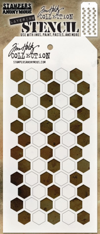 Tim Holtz Layered Stencil 4.125X8.5 - Shifter Hex