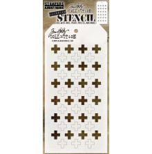 Tim Holtz Layered Stencil 4.125X8.5 - Shifter Plus