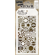 Tim Holtz Layered Stencil 4.125X8.5 - Patchwork Hex
