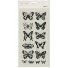 Kaisercraft Clear Stickers 5.75X12 - Butterflies