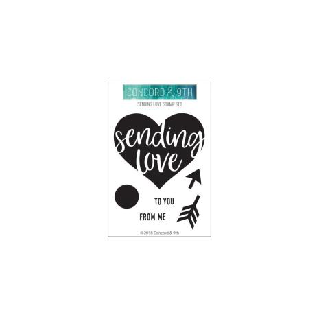 Concord & 9th Clear Stamps 3X4 - Sending Love