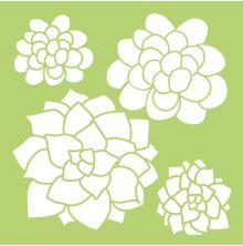 Kaisercraft Designer Template 6X6 - Succulents