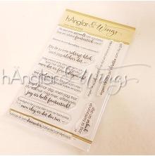 hÄnglar & Wings Clear Stamps - Ascoola Vänner