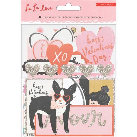 Crate Paper Ephemera Cardstock Die-Cuts 44/Pkg - La La Love