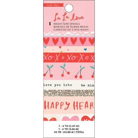 Crate Paper Washi Tape 8/Pkg- La La Love