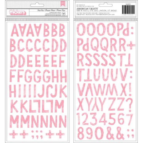 Crate Paper La La Love Thickers Stickers 61/Pkg - First Kiss Alpha/Chipboard