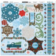 BoBunny Combo Stickers 12X12 -Winter Getaway