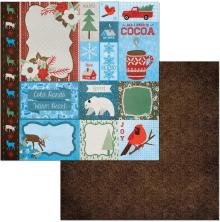 BoBunny Winter Getaway Cardstock 12X12 - Retreat